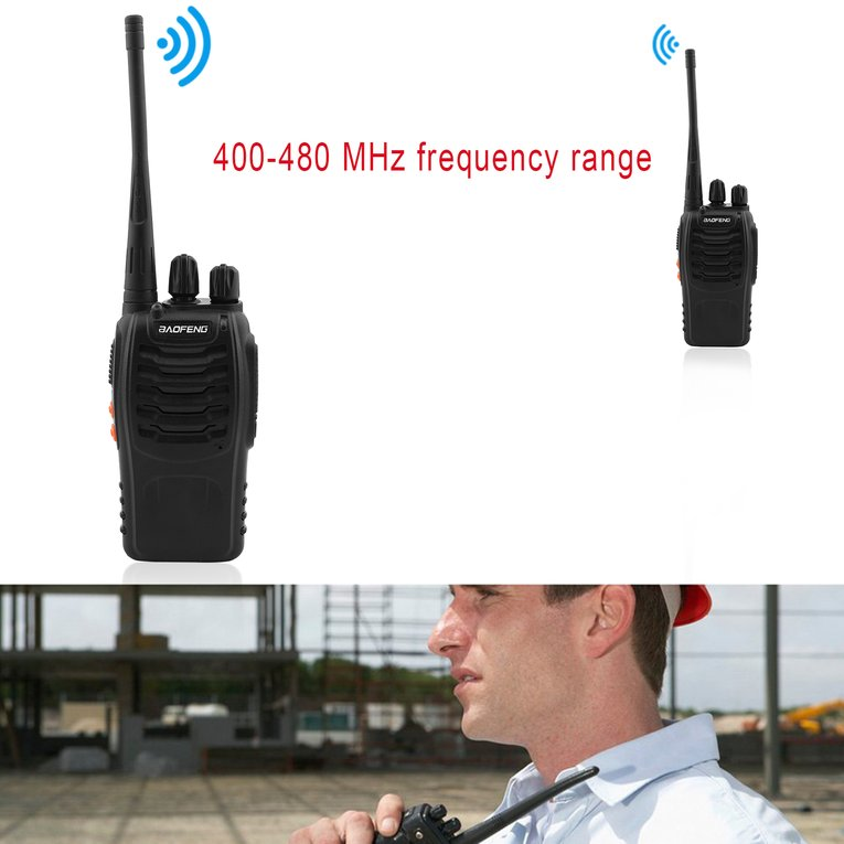 Click here to buy 2pcs Walkie Talkie 400-470MHZ 2-Way Radio 3.7V 5W US Plug Long Range Tool.