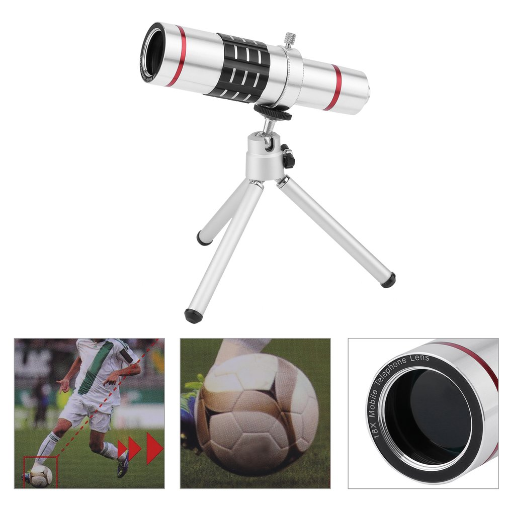 18x Optical Zoom Telescope Camera Lens Kit Universal Monocular Telescope With Mini Tr For Cell Phone Smartphone