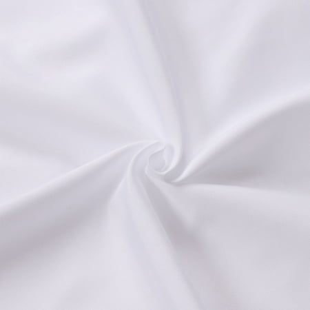 Unique Bargains 2 Pack Microfiber Body Pillow Covers White 20