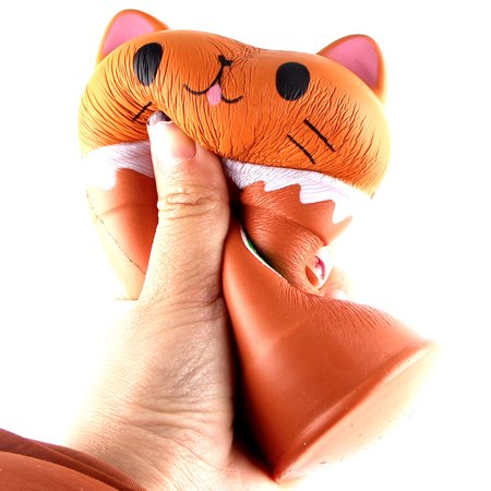 Outtop Cut Coffee Cup Cat Scented Squishies Slow Rising Squeeze Toy Collection Gift