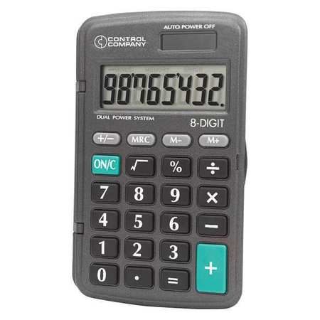 "4-1/4"" Pocket Calculator, Control Company, 6023"