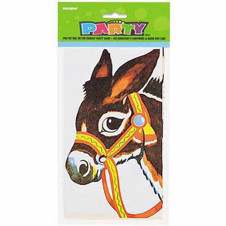 The Donkey Game (Pin the tail on the donkey game (Pack of)