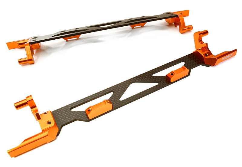 Integy RC Toy Model Hop-ups C26878ORANGE Machined Alloy & Composite Battery Hold-Down... by Integy