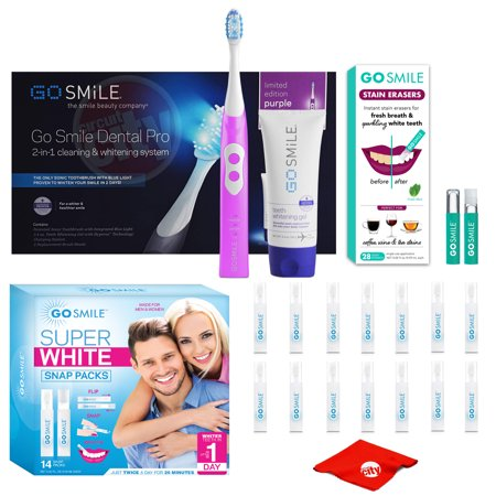 Go Smile Dental Pro 2 In 1 Cleaning Amp Whitening Toothbrush