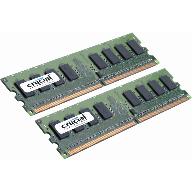 Crucial 4GB Kit (2GBx2) DDR2 PC2-6400 Unbuffered ECC 1.8V 256Meg x 72