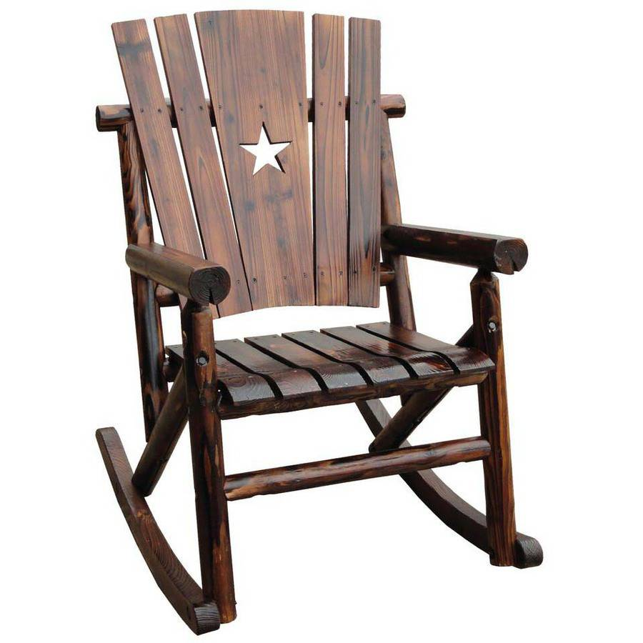 Leigh Country Char-Log Single Rocker with Star