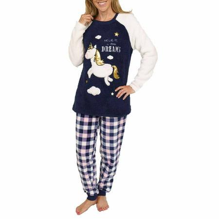 Secret Treasures Women S Plush Fleece Pajama 2 Piece