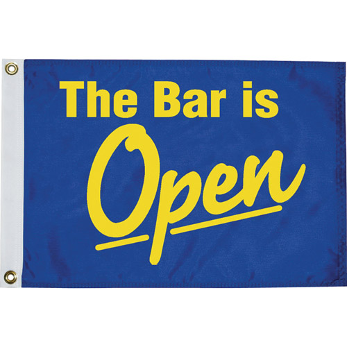 "Taylor 12"" x 18"" ""The Bar Is Open"" Novelty Flag"