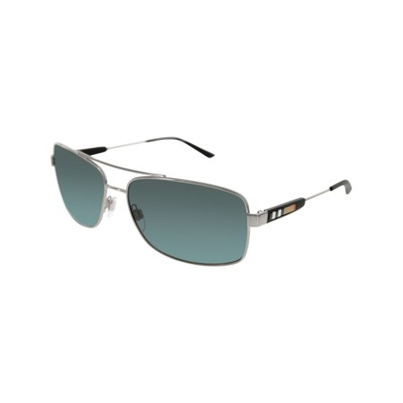 Burberry Men's BE3074-100387-63 Silver Rectangle (Burberry Men Sunglasses)