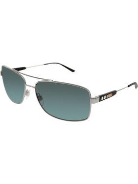 1475c4b2dbc7 Product Image Burberry Men's BE3074-100387-63 Silver Rectangle Sunglasses