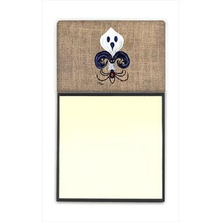 Halloween Ghost Spider Bat Fleur de lis Refiillable Sticky Note Holder or Postit Note Dispenser, 3 x 3 (Ghost Notes)