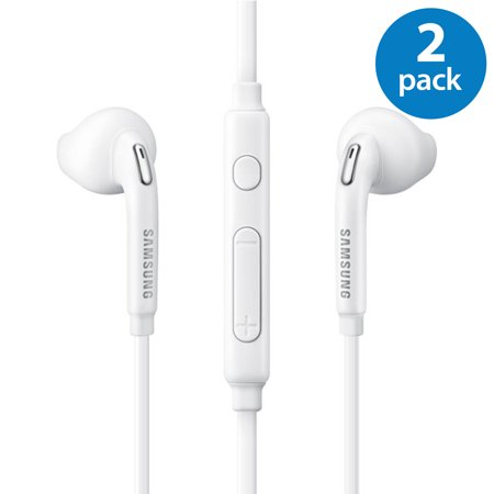 2 Pack of OEM Original Earbud Earphone Headset Headphones With Remote for Samsung Galaxy S6 edge S7 edge S8 S9 S8+ S9+ Plus EO-EG920LW White sold by Afflux (2 Headset Pack)