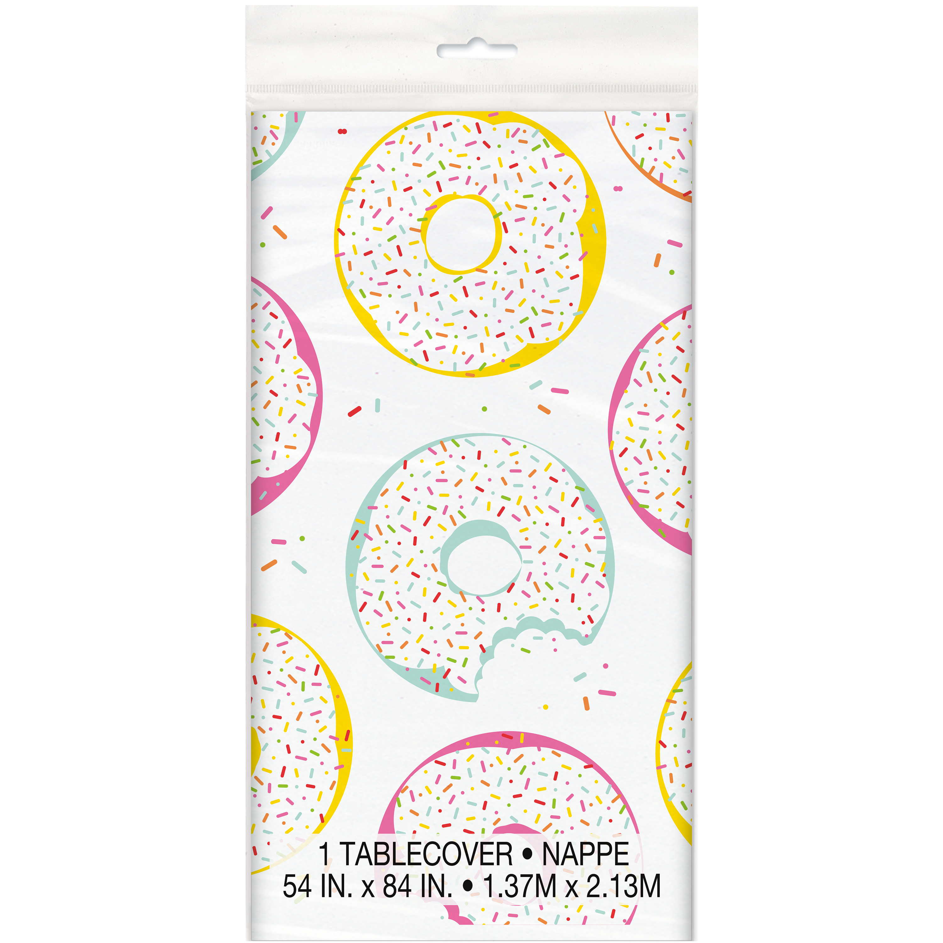 Donut Party Plastic Tablecloth, 84 x 54 in, 1ct