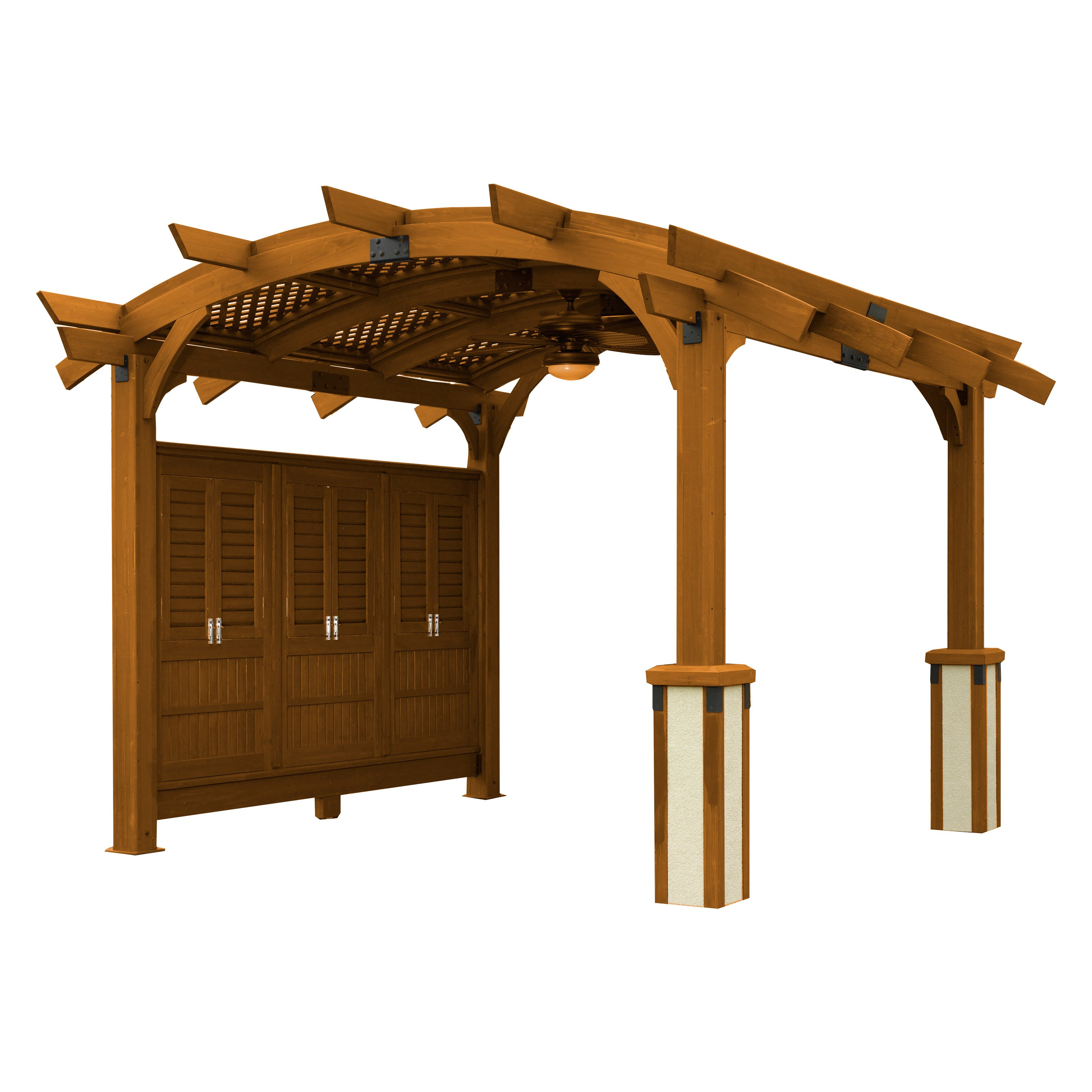 Sonoma 12 x 12 ft. Arched Wood Pergola by Outdoor GreatRoom Company LLLP
