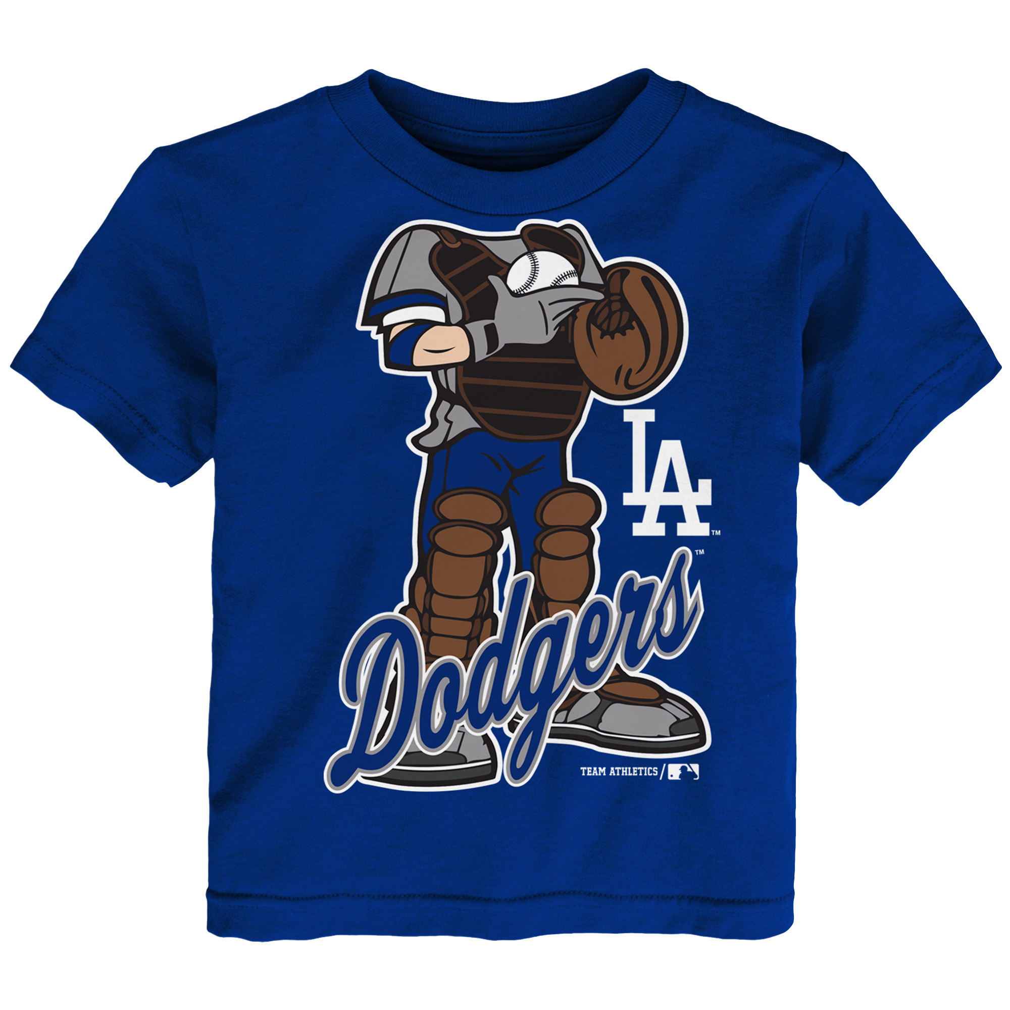 MLB Los Angeles Dodgers TEE Short Sleeve Boys 50% Cotton 50% Poly Team Color 12M-4T