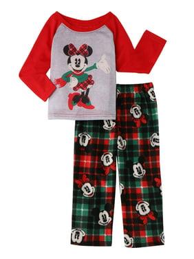 Disney Toddler Girls' Matching Family Christmas Pajamas, 2-Piece Set