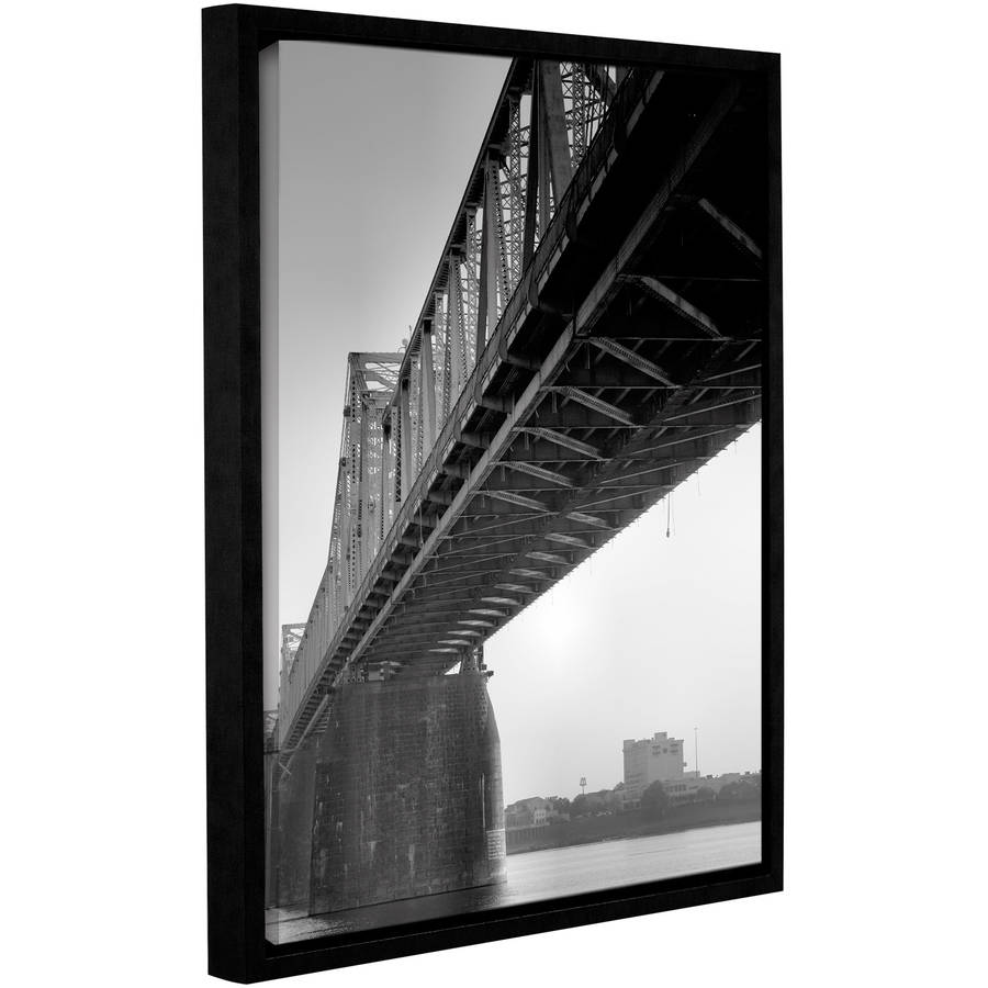 """ArtWall Steve Ainsworth """"Under the Bridge"""" Gallery-Wrapped Floater-Framed Canvas"""