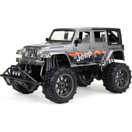 New Bright 1 8 Radio Control Full Function 9 6v 4 Door Jeep Blue