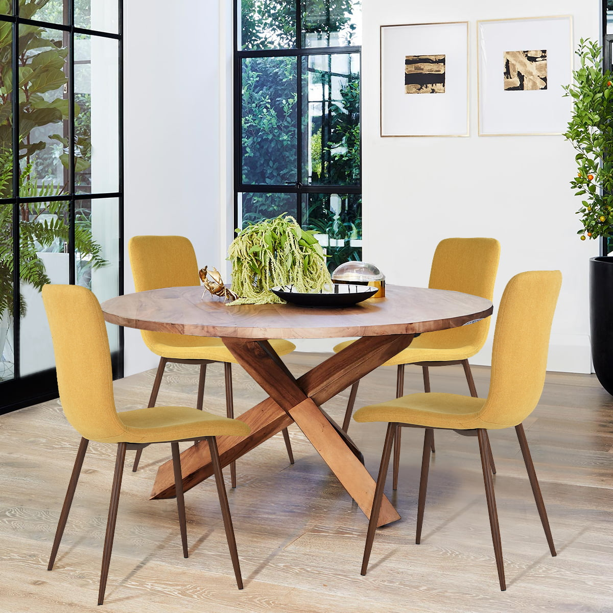 Furniture R Dining Chair Set of 12, Stylish Upholstered Fabric Cushion Seat  Side Chairs for Kitchen Dining Room