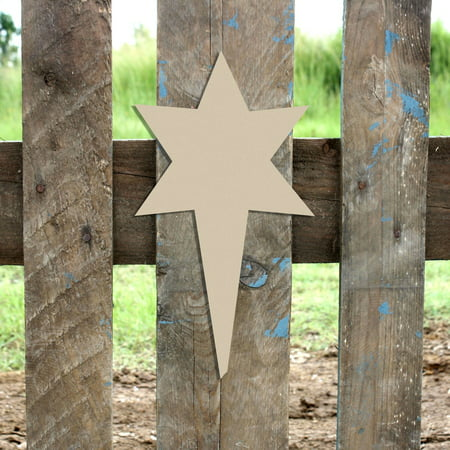 Wooden Nativity Star Shape, Unfinished Wood Craft, DIY 6'' Lot of 10