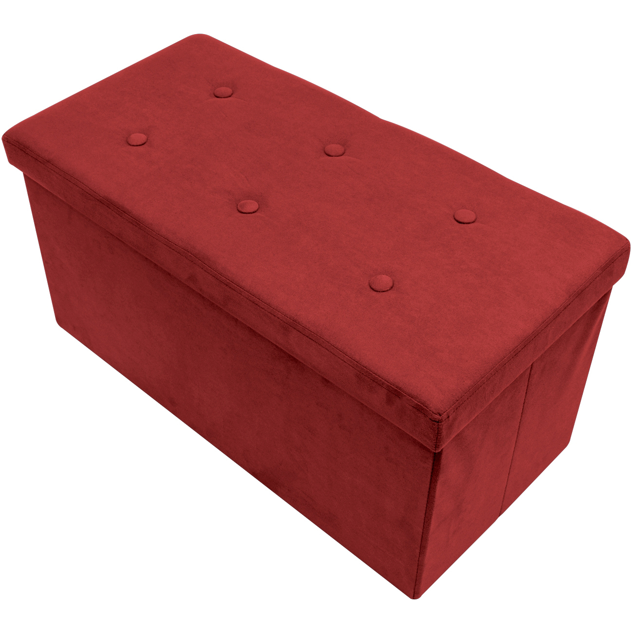 Sorbus Storage Bench Chest  Collapsible/Folding Bench Ottoman with CoverPerfect Hope Chest, Pouffe Ottoman, Coffee Table, Seat, Foot Rest, and more  Contemporary Faux Suede (Small)