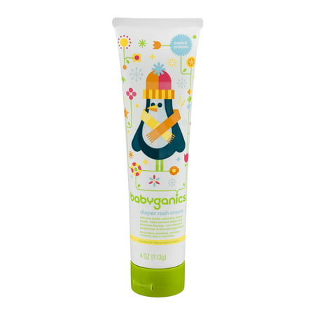Babyganics Diaper Rash Cream, 4oz Tube