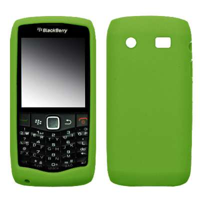 Premium Neon Green Soft Silicone Gel Skin Cover Case for BlackBerry Pearl 3G 9100 [Accessory Export (Neon Green Silicone)