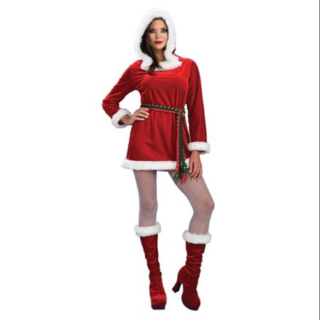 Miss Noelle Sexy Santa Christmas Adult Costume (Miss Santa Outfits)