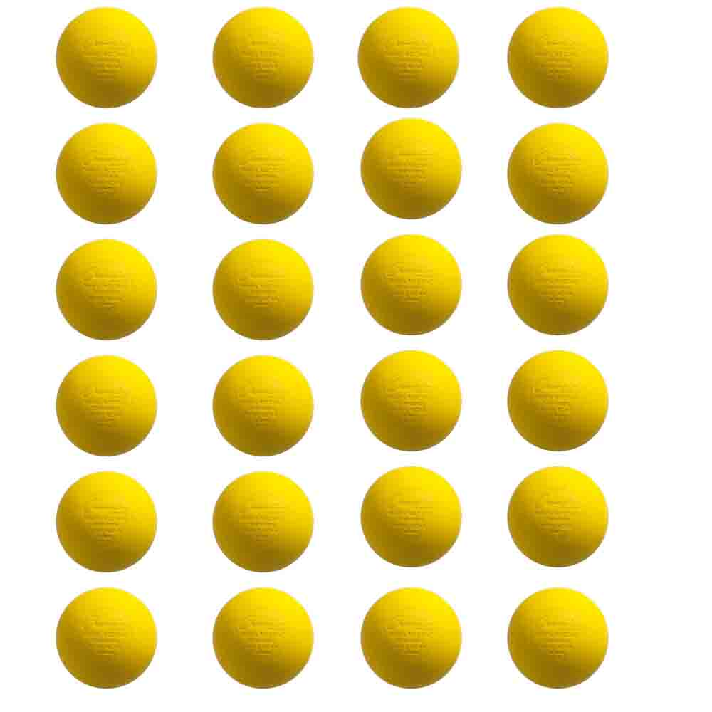 Champion Sports LBY-NOCSAE NCAA Official Lacrosse Balls (24-Pack, Yellow) by Champion