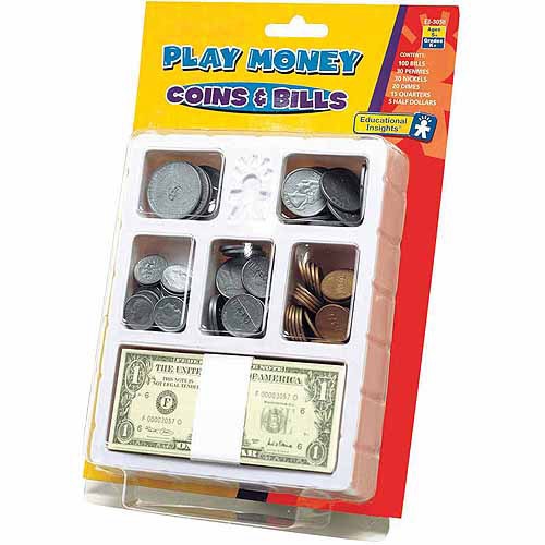 Educational Insights Play Money, Coins and Bills