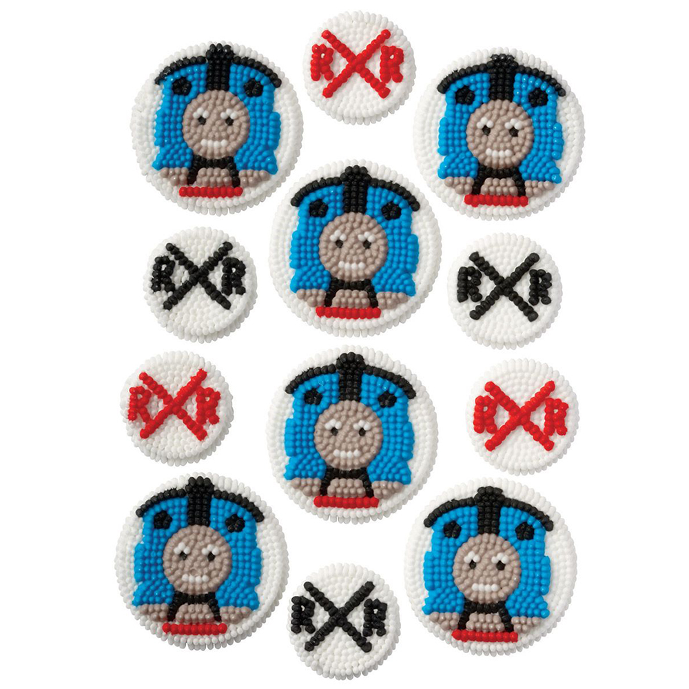 Thomas the Train Edible Icing Decorations (12 Pack) - Party Supplies