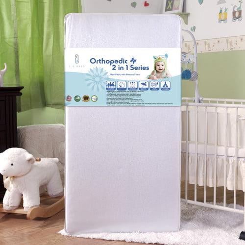 L.A. Baby Maxi-Pedic with Memory Foam Crib Mattress