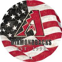 "Arizona Diamondbacks 12"" Team Color Flag Sign"