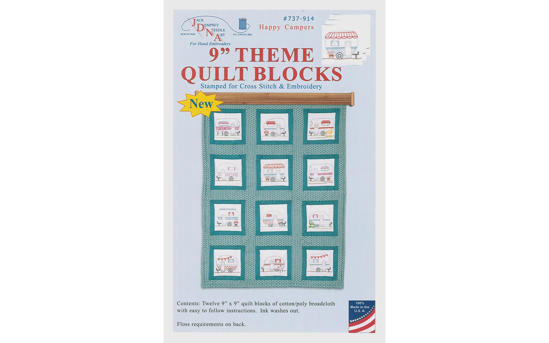 from Jack Dempsey Inc. DUCKIES QUILT BLOCK SET EMBROIDERY PATTERN *NEW*