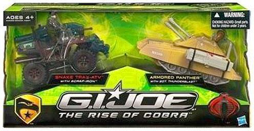 GI Joe The Rise of Cobra Snake Trax ATV & Armored Panther by