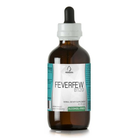 Feverfew Alcohol-FREE Herbal Extract Tincture, Super-Concentrated Organic Feverfew (Tanacetum parthenium)