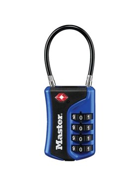 Master Lock Padlock 4697D Tsa-Accepted Luggage Lock 1-3/8in (36mm); Assorted Colors