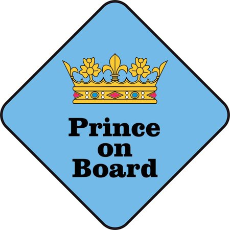 4 5 inx 4 5in prince on board sign bumper sticker decal car window stickers decals