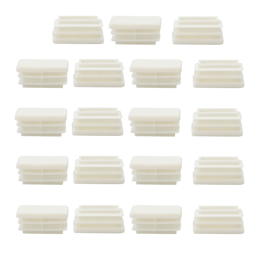 30 x 15mm Rectangle End Tube Inserts Furniture Chair Legs Floor Protector 19pcs - image 7 de 7