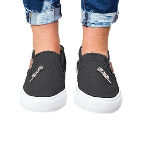 the best buying cheap discount shop LALLC - Womens Canvas Shoes Vintage Flat Slip On Sneakers Casual ...