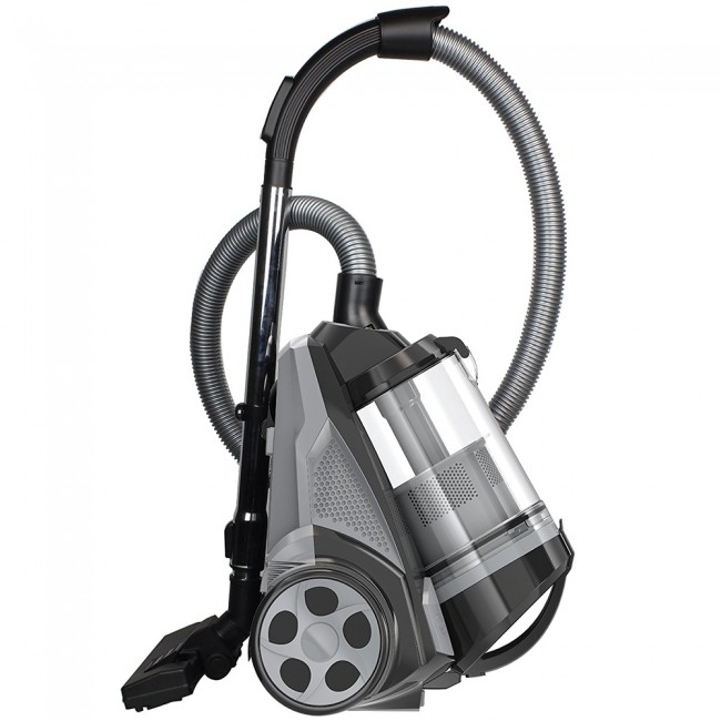 Ovente Cyclonic Bagless Canister Vacuum with Hepa Filter, Multi-Angle Brush and Sofa/Pet Brush, Black (ST2620B)