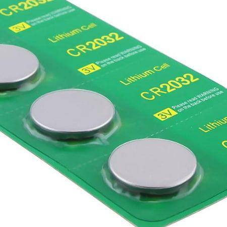 Cr2032 Button Cell Battery (Insten 5pcs CR 2032 CR2032 3V Lithium Button Cell Coin Battery)