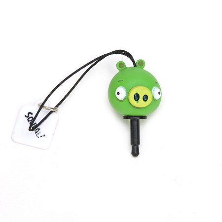 Angry Birds Minion Pig Squeal Cellphone Charm Audio Jack Plug