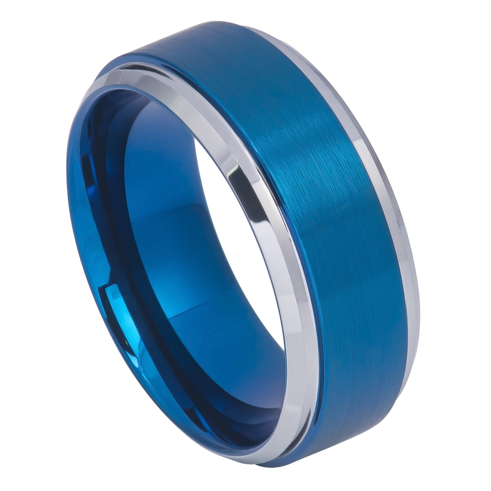 Dainty Jewelry 9mm Fort Fit Tungsten Carbide Wedding Band Beveled Edge High Polish Blue Tone Ring 7 To 15 Size Walmart: Wedding Band Gunmetal Blue At Websimilar.org