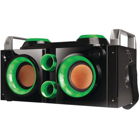 Image of QFX PBX-505200BT Rechargeable Bluetooth Party PA Boombox, Green