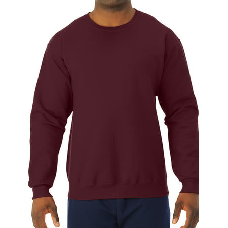 Big Men's Soft Medium-Weight Fleece Crewneck