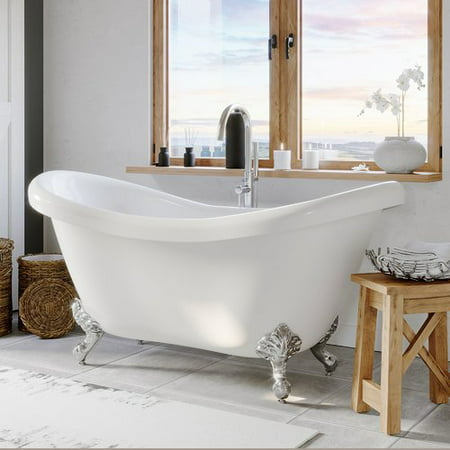 Classic Clawfoot Bathtub - Cambridge Plumbing 69'' x 29'' Clawfoot Bathtub