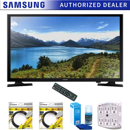 Samsung 32-Inch 720p LED TV 2015 Model (UN32J4000) with 2x 6ft High Speed HDMI Cable Black, Universal Screen Cleaner for LED TVs & Stanley SurgePro 6 NT 750 Joule 6-Outlet Surge