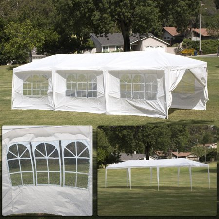 10 x 30′Canopy Party Wedding Tent Heavy Duty Gazebo Pavilion 8 Full Walls White