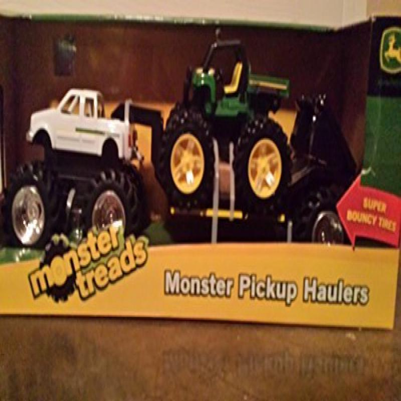 ERTL Toys John Deere Monster Treads Pick Up Hauler with H...